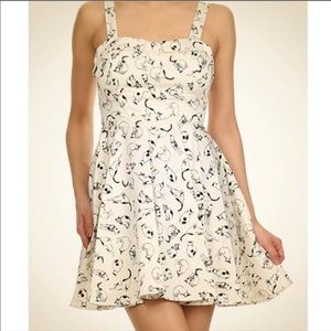 Ixia cat print dress size medium
